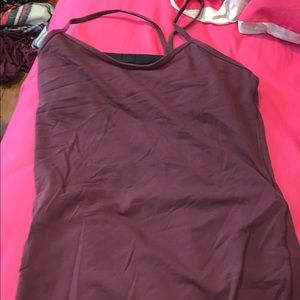 LULULEMON MAROON POWER Y TANK TOP NWOT
